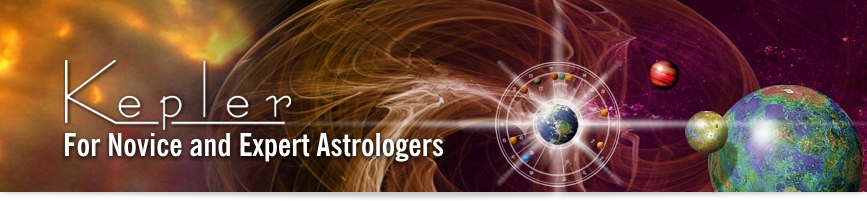 Kepler Astrological Software Banner image