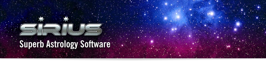 Sirius Astrological Software banner image